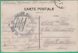 Marcophilie - Cachet Sur Carte - Service Militaire Des Chemins De Fer - Gare De Nimes Rassemblement - Marcophilie (Lettres)