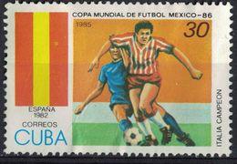 Cuba 1985 Used FIFA World Cup Coupe Du Monde De Football SU - Cuba