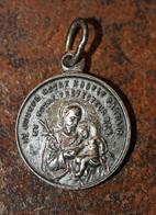 """Pendentif Médaille Religieuse """"Saint Joseph / Sacré Coeur De Jésus Et Marie"""" Religious Medal - Religion & Esotérisme"""
