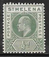 St. Helena, Scott # 48 Mint Hinged King Edward Vll, 1902 - Saint Helena Island