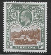 St. Helena, Scott # 50 Mint Hinged Government House, 1903 - Saint Helena Island