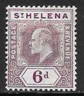 St. Helena, Scott # 58 Mint Hinged Edward Vll, 1911 - Saint Helena Island