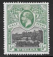 St. Helena, Scott # 61 Mint Hinged Government House, 1912 - Saint Helena Island