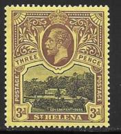 St. Helena, Scott # 66 Mint Hinged Government House, 1912 - Saint Helena Island