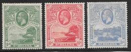 St. Helena, Scott # 75-7 Mint Hinged The Wharf, Government House, 1922 - Saint Helena Island
