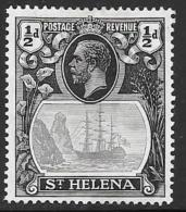 St. Helena, Scott #79  Mint Hinged Badge Of The Colony, Ship, 1923 - Saint Helena Island