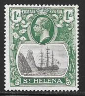 St. Helena, Scott #80 Mint Hinged Badge Of The Colony, Ship, 1922 - Saint Helena Island
