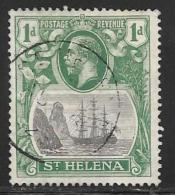 St. Helena, Scott #80 Used Badge Of The Colony, Ship, 1922 - Saint Helena Island