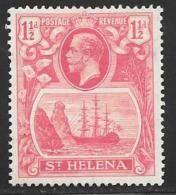 St. Helena, Scott #81 Mint Hinged Badge Of The Colony, Ship, 1923 - Saint Helena Island
