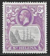 St. Helena, Scott #86 Mint Hinged Badge Of The Colony, Ship, 1923 - Saint Helena Island