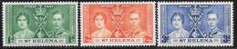St. Helena, Scott #115-7 Mint Hinged Coronation, 1937 - Saint Helena Island