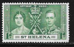 St. Helena, Scott #115 Mint Hinged Coronation, 1937 - Saint Helena Island