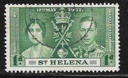 St. Helena, Scott #115 Used Coronation, 1937 - Saint Helena Island