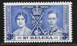 St. Helena, Scott #117 Mint Hinged Coronation, 1937 - Saint Helena Island