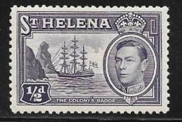 St. Helena, Scott #118 Mint Hinged Badge Of The Colony, Ship, 1938 - Saint Helena Island