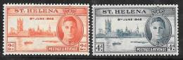 St. Helena, Scott #128-9 Mint Hinged  Peace Issue, 1946 - Saint Helena Island