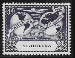 St. Helena, Scott #133 Mint Hinged  UPU, 1949 - Saint Helena Island