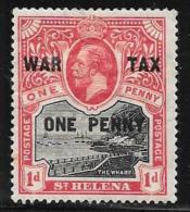 St. Helena, Scott #MR1 Mint Hinged The Wharf, War Tax, Surcharged, 1916 - Saint Helena Island