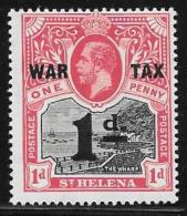 St. Helena, Scott #MR2 Mint Hinged The Wharf, War Tax, Surcharged, 1919 - Saint Helena Island