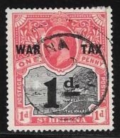 St. Helena, Scott #MR2 Used The Wharf, War Tax, Surcharged, 1919 - Saint Helena Island