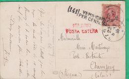 Marcophilie - Cachet Sur Carte - Milano Posta Estera - (141) Verificato Per Censura - Storia Postale