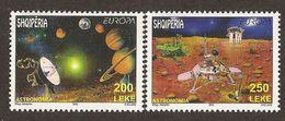 "ALBANIA - EUROPE 2009 - TEMA ""ASTRONOMIA"" - SERIE Di 2 Francobolli PERFORATI  (PERFORATED) - Europa-CEPT"
