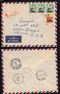 Covz0717 CONGO 1960, Registered Cover From Bafwasende To USA With 8A2 Cancellation And Stanleyville 1 12B(K)  Backstamp - Republic Of Congo (1960-64)