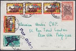 Covz0708  CONGO 1964, Cover From Kamina 1 To Belgium With 11(E) Cancellation - Republic Of Congo (1960-64)