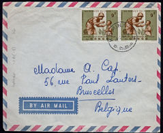 Covz0704  CONGO 1966, Cover From Kamina To Belgium With 10(-B) Cancellation - Democratic Republic Of Congo (1964-71)