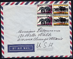 Covz0621  CONGO 1963, Cover From Luluabourg 1 To USA With 12B(N) Cancellation - Republic Of Congo (1960-64)