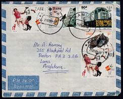 Covz0562  ZAIRE 1988,  Cover Kamina 1 To England With I.10-C Cancellation - Zaire