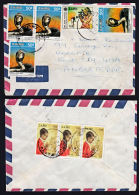 Covz0531  ZAIRE 1989, Cover From Mbuji Mayi1 To England With I.10-D Cancellations - Zaire