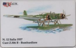 Scheda Telefonica ATW Serie Aerei N. 12 Cant Z 506 B Bombardiere Italia 1937 - Aerei