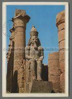 V4467 EGYPT LUXOR TEMPLE STATUE OF RAMSES II VG ExtraGrand (m) - Luxor