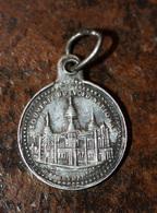 """Pendentif Médaille Religieuse Début XXe """"Sacré Coeur De Jésus / Basilique De Montmartre"""" Paris - Religious Medal - Religion & Esotérisme"""