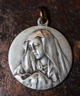 """Très Beau Pendentif Médaille Religieuse """"Sainte Marie / Pape Pie XI"""" Religious Medal - Religion & Esotérisme"""