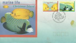 Christmas Island 1995 Fishes FDC - Christmas Island