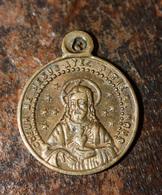 """Pendentif Médaille Religieuse """"Coeur De Jésus / Sainte Marie"""" Religious Medal - Religion & Esotérisme"""