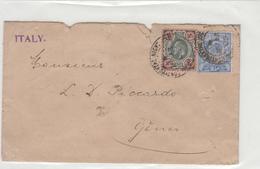 Storia Postale-SU BUSTA_1902_Gran Bretagna _Edoardo VII-da 2-1/2 E 4d Postage Revenue-Val Cat 92€ - Post