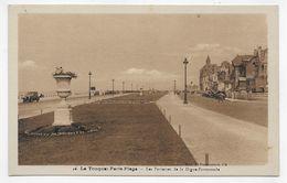 LE TOUQUET PARIS PLAGE - N° 46 - LES PARTERRES DE LA DIGUE PROMENADE AVEC VIEILLE VOITURE - CPA NON VOYAGEE - Le Touquet