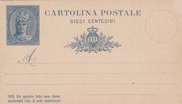 Storia Postale_Cartolina Postale Dieci Centesimi- - Posta