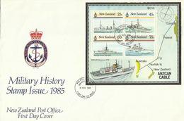 New Zealand 1985 Ships Miniature Sheet FDC, Damaged - FDC