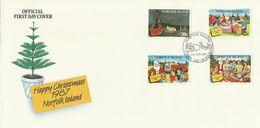 Norfolk Island 1987 Christmas FDC - Norfolk Island