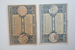 NETHERLAND INDIES : 2x INTERNATIONAL REPLY COUPON 171/2c  W/ SOERABAJA & SOERABAJA-SIMPANG Cancels  (1940) - Netherlands Indies