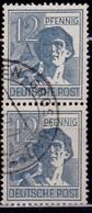 Germany, 1947, Laborer, 12pf, Sc#561, Used - American/British Zone