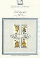 South Africa Bophuthatswana 1981 History Of The Telephone First Day Sheet - Bophuthatswana