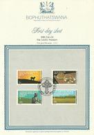 South Africa Bophuthatswana 1981 The Lord's Passion First Day Sheet - Bophuthatswana