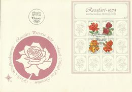 South Africa RSA 1979 Roses Miniature Sheet FDC - FDC