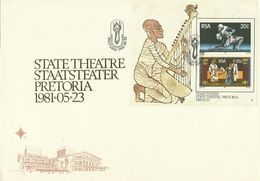 South Africa RSA 1981 Theater Miniature Sheet FDC ,Toned - FDC