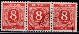 Germany, 1946, Numeral Of Value, 8pf, Sc#536, Used - American/British Zone